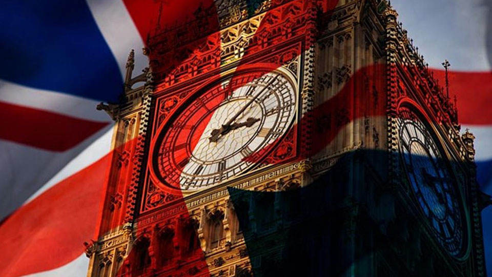 Big Ben with Union Jack over the top