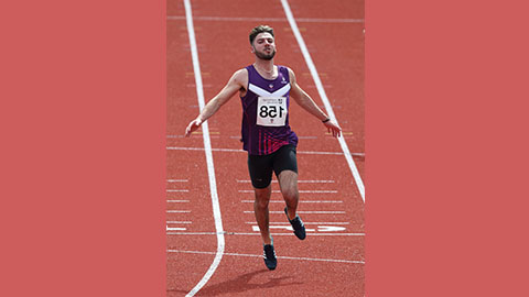 Loughborough-based Paralympic hopeful Zac Shaw ran a 7.07s personal best